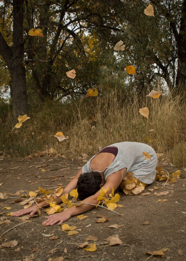 creative yoga portrait
